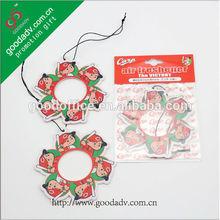 Best selling household deodorizer paper air freshener