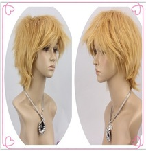 New Fashion Short Blond Curl Cosplay Men's Hair Full Wig