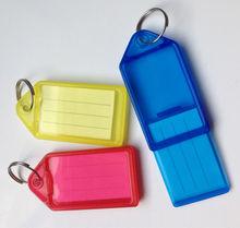 big size plastic key tags/key chian/key rings