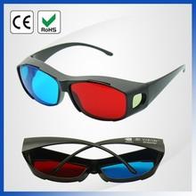 High quality red blue plastic framed cinema 3D glasses use for video converter