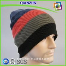 New Men Knit Hat Snowboard Stripes Beanie Caps