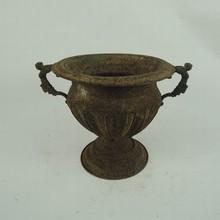 Rustic antique decorative cast iron urn