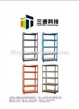 5 layers Light Duty Boltless Rivet Slotted Angle Shelves Stacking Storage Rack