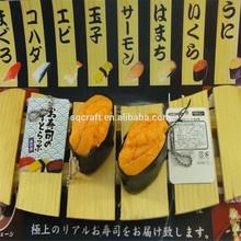Decoden PVC charms pendant Japanese 1:1 miniature sushi /Yiwu sanqi craft factory