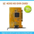 Caméra de surveillance carte de capture vidéo pc 4ch logiciel dvr card h. 264