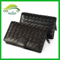 Fashion weave sheepskin wallet ladies purse advanced leather purse