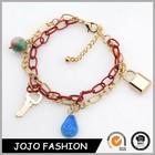 Latest jewelry heart lock key charm chain bracelet