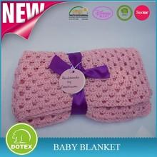 High quality handmade crochet baby blankets 100%Cotton Baby Blanket crochet baby blankets