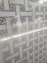 New Arrival United States Design Water Jet Marble with Bronze Tile