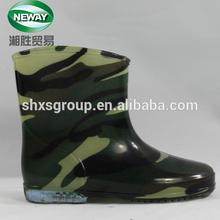 Waterproof Transparent Camo Rain Boots Kids's Rubber Rain Boots