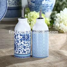 Elegant Ceramic Oil and Vinegar Cruet set