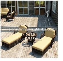 New Arrivals: 2015 Deluxe Antique Sunbath Chaise Lounge Set for 2 Person