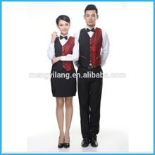 The waiter overalls waistcoat The new western restaurant waiter vest KTV bars nightclubs uniform men and women