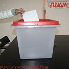 New Arrive!! Tsunami New Election ballot boxes plexiglass Transparent plastic ballot box