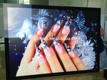 LED magnetic acrylic slim crystal light box LED Window Display Real Estate Sign Frame