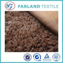 teddy bear fabric pv plush fabric for animal toys polyester fabric