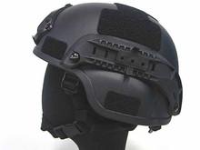 Matte black military tactical helmet , antique military helmets manufacturers