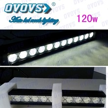 Aluminum alloy with stainless steel bracket 120w led bar lighting with about 30000 hours life time