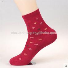 OEM Wholesale Nice Lady Dress Sock Knitted Ankle Sock Cotton Hosiery