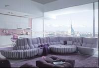 purple leather living room furniture