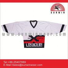 100% polyester Air knit custom training sublimation print cheap hockey jerseys