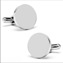 Yiwu Aceon jewelry factory plain engraved stainless steel cuff link