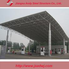 light space frame petrol station design