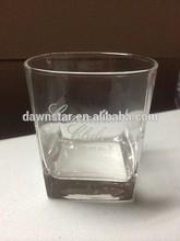 canadian whiskey rocks glass square base