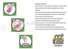 Plain condom with colour & flavor
