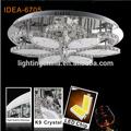 Luz de cristal rústico lodge luz de teto LD6705