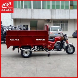 Water Cooling Zongshen Engine Garbage Collecting Cargo Tricycle Vehicle Hydraulic Cargo Box