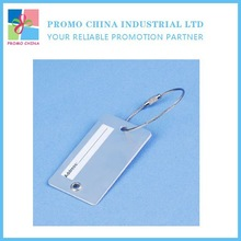 Small Metal Aluminum Luggage Tag Loop Strap With Contact Information Paper Insert