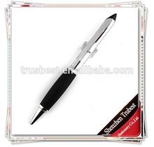 TM-07 fat shape advertisment metal pens, twist Silicone metal logo ballpoint pen