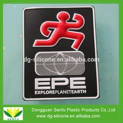 Explore planet earth rubber custom pvc patch for souvenir