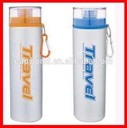 750ml single wall aluminium sports bottle, easy carrying
