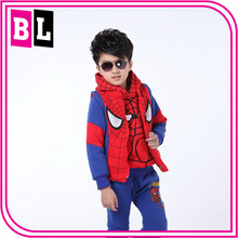 Europe and America Hot Selling New Design Spiderman Costume Cashmere Thickening Boys Sweater Suits ZZJ-SP-7