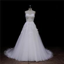 Popular bowknot sash 2012 sheer tulle back with ribbon wedding dress