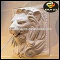 Cabeza de león fuente de pared/esculturas de león de mármol