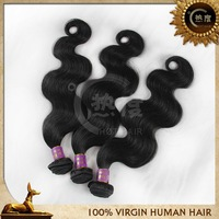 Free shipping best selling factory wholesale price 18 inch 3pcs/pack natural color 100% remy virgin brazilian body wave