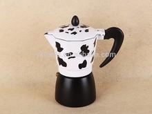 Hot new product china supplier cow pattern irish coffee maker set