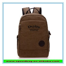 YIWU2015the fashion leisure men's bags khaki canvas school backpack for student with zipper bag mobile bag FW15660
