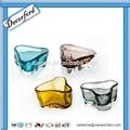 venda quente triângulo colorido castiçal de vidro