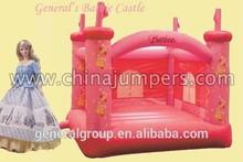 Inflatable barbie bouncer castles