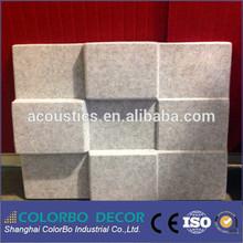 High Density 3D Glue on Wall Panel polyester Fiber Material