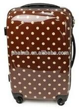 new design white dot printed travel luggage