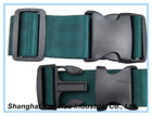 "2"" deep green polyester travel luggage strap belt"