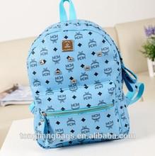 modern fashion high school teenager backpack bag good quality PU leather leisure backpack bag