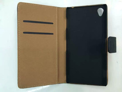 Genuine leather phone bag case for Z3 real leather wallet book leather case cover bag for Sony Xperia Z3
