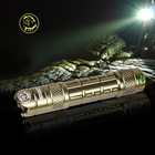 Outdoor Rechargeable Flashlight 18650 Led Aerospace Alluminium Alloy Warning&Working Camping Light
