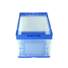 Stackable and collapsible plastic shortage logistic box